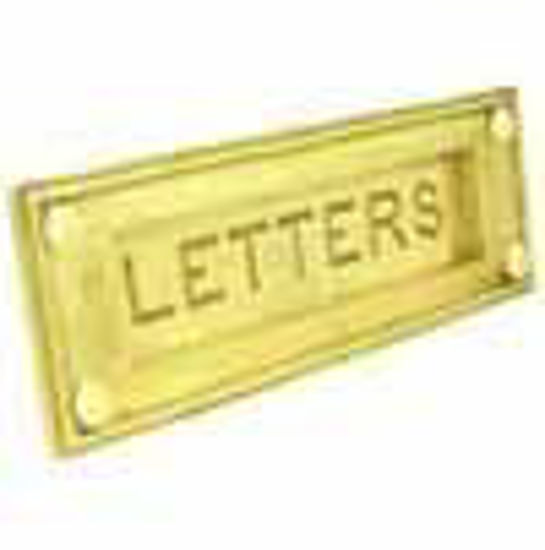 Picture of Letter plate - Horizontal - Engraved