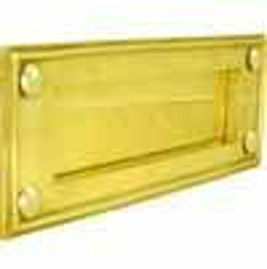 Picture of Letter plate - Horizontal - Plain