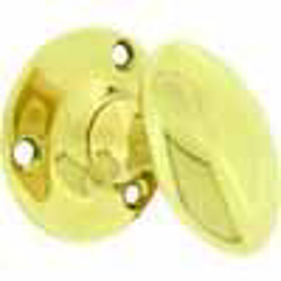Picture of Knob - Oval - Plain - Round Backplate