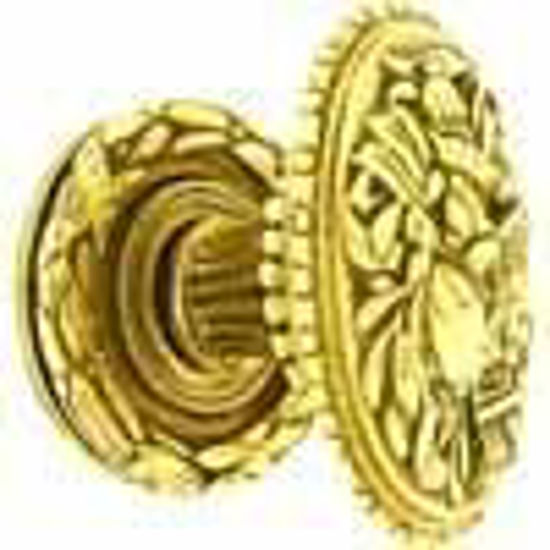Picture of Knob - Oval -Cartouche - Flared - Reeded