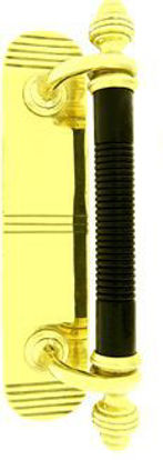 Picture of Door Pull - Ebony and Brass