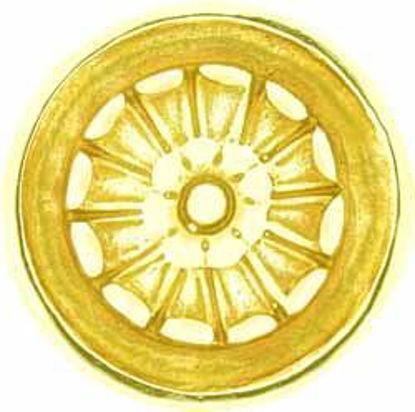 Picture of Patera - Tudor Rose - Round - Flat